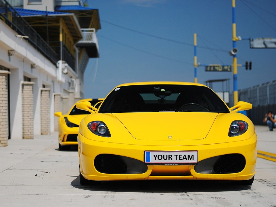 car ferrari yellow